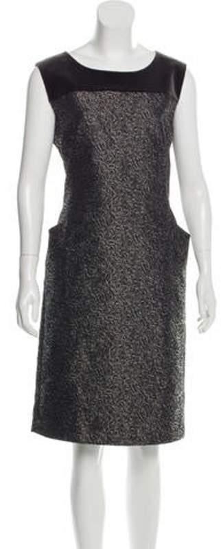 Max Mara Sleeveless Jacquard Dress Grey Sleeveless Jacquard Dress