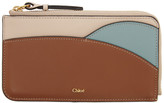 Chloé Brown and Blue Walden Zippered Card Holder