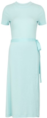 Rosetta Getty Aqua Cotton T-shirt Dress