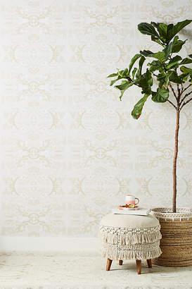 Anthropologie Air Garden Wallpaper By in Beige Size ALL