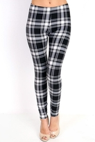 People Outfitter Black&White Plaid Leggings