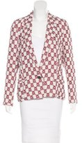 Isabel Marant Abstract Print Fitted Blazer