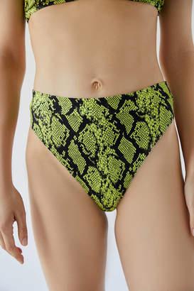 Out From Under Brazilian 80s Shine Printed Bikini Bottom