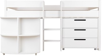 Stompa Mid Sleeper with Pull Out Desk, Drawers and Mattress Options (Buy and SAVE!)