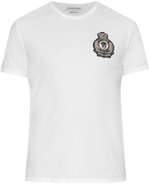 Alexander McQueen Military embellished cotton T-shirt