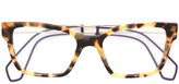 Miu Miu tortoiseshell square glasses - women - Acetate/metal - 51
