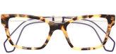 Miu Miu tortoiseshell square glasses
