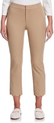 Rafaella Women's Scallop Hem Ankle Pants