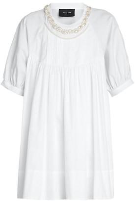 Simone Rocha Embellished Puff-Sleeve Babydoll T-Shirt
