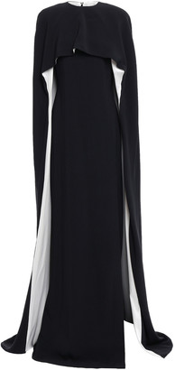 Stella McCartney Cape-effect Silk Satin-trimmed Crepe Gown