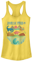 Fifth Sun Women's Tank Tops BANANA - Banana 'Jurassic Park' Racerback Tank - Women & Juniors