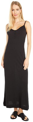 Only Hearts Organic Cotton Gown (Black) Women's Clothing