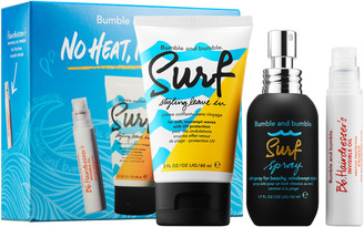 Bumble and Bumble No Heat, No Hassle Set: Hairdresser's Invisible Oil Uv/Heat Protective Primer, Surf Styling Leave In & Surf Spray
