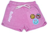 Butter Shoes Girls' Smile Patches Shorts - Little Kid