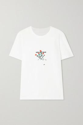 BERNADETTE International Women's Day Embroidered Printed Organic Cotton-jersey T-shirt
