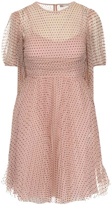 RED Valentino Polka-Dot Tulle Mini Dress