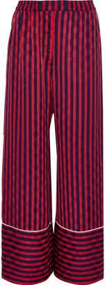 House of Holland Striped Jacquard Wide-leg Pants