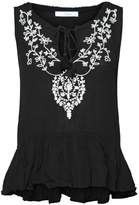 Dex Embroidered Peplum Tank