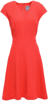 Lela Rose Flared Wool-blend Crepe Dress