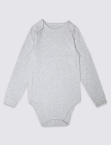 Marks and Spencer Pure Cotton Long Sleeve Bodysuit (3-16 Years)