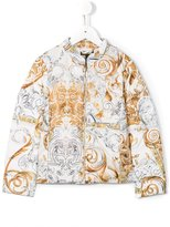 Roberto Cavalli baroque print padded jacket - kids - Feather Down/Polyamide/Polyester - 4 yrs