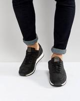 BOSS ORANGE By Hugo Boss Laser Cut Nubuck Sneakers Black