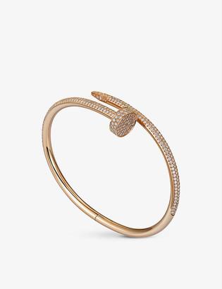 Cartier Juste un Clou 18ct rose-gold diamond-paved bracelet