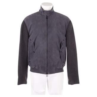 Porsche Design Grey Leather Jacket for Women