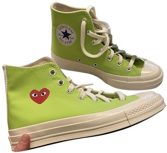 Comme des Garcons Converse X Play Green Cloth Trainers