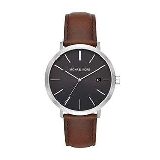 Michael Kors Men's Blake Stainless Steel Quartz Watch with Leather Strap