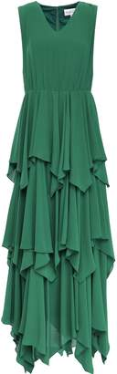 Mikael Aghal Tiered Georgette Gown