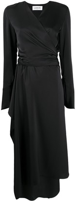 Lanvin Satin Wrap Dress