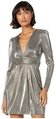 BCBGeneration Metallic Empire Waist Dress TOM6263885 (Gold) Women's Dress