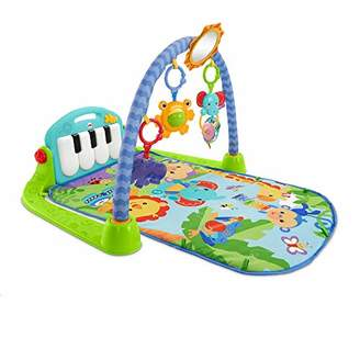 Fisher-Price Kick and Play Piano Gym New-born Baby Play Mat Suitable from Birth Includes Activity Centre with Music and Sounds