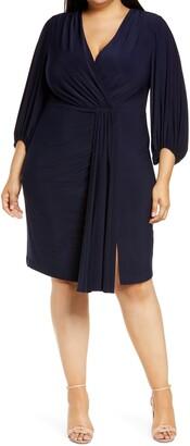 Eliza J Wrap Front Cocktail Dress