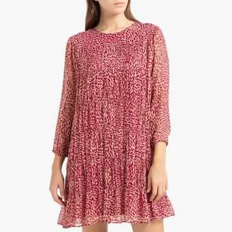 BA&SH Short Printed Dress with Long Sleeves