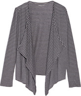 Majestic Striped cotton and cashmere-blend cardigan