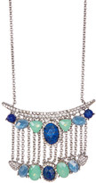 Jenny Packham Pave Crystal & Faceted Stone Pendant Necklace
