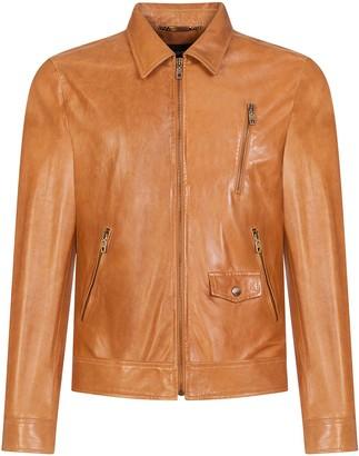 Dolce & Gabbana Zip-Up Lambskin Jacket