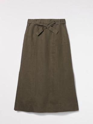 White Stuff Ione Plain Linen Maxi Skirt