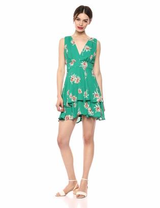 BB Dakota Junior's Garden strolls Printed CDC Dress