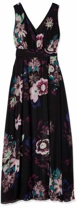 Sangria Women's Dark Floral Gown