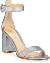 Gianvito Rossi Brushed Ankle-Strap Sandals