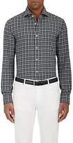Kiton Men's Plaid Cotton Flannel Button-Front Shirt
