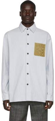 Loewe White and Blue Stripe Shirt