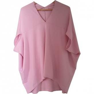 Lutz Huelle Pink Cotton Top for Women