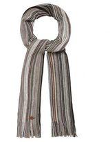 Mantaray Grey Striped Scarf
