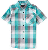Hurley Big Boys 8-20 Plaid Short Raglan-Sleeve Shirt