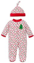 Offspring Boys' Holiday Dot Footie & Hat Set - Baby
