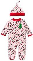 Offspring Infant Boys' Holiday Dot Footie & Hat Set - Sizes Newborn-9 Months